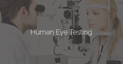clinical testing with human eyes