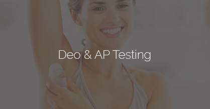 deodorant and antiperspirant testing