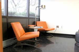 We Love Our Orange Chairs in Our Visitor Waiting Area